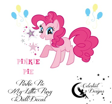 Second Life Marketplace Pinkie Pie Mlp Wall Decal Bagged
