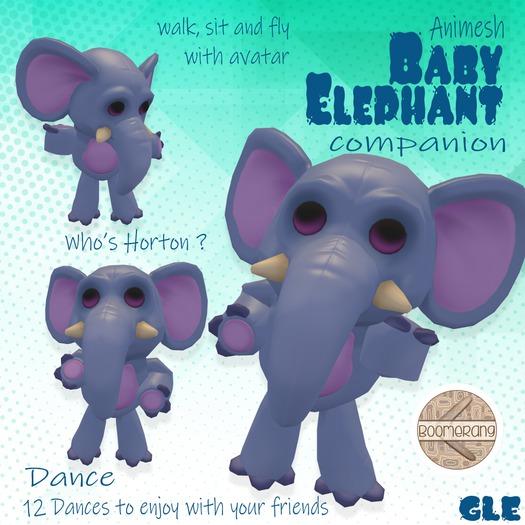 Second Life Marketplace Boomerang Who S Horton Elephant Gle Box