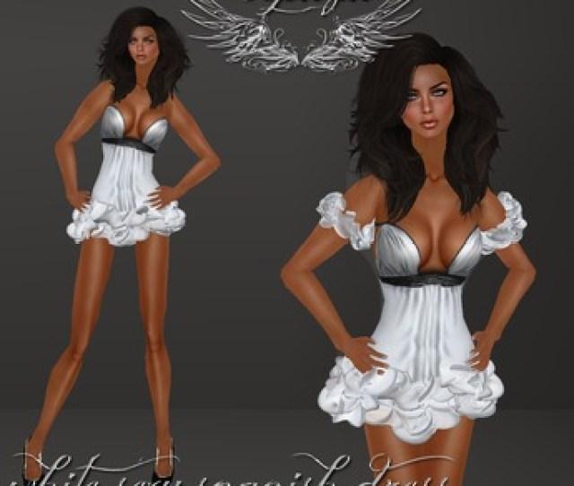 Second Life Marketplace Topazia White Sexy Spanish Dress