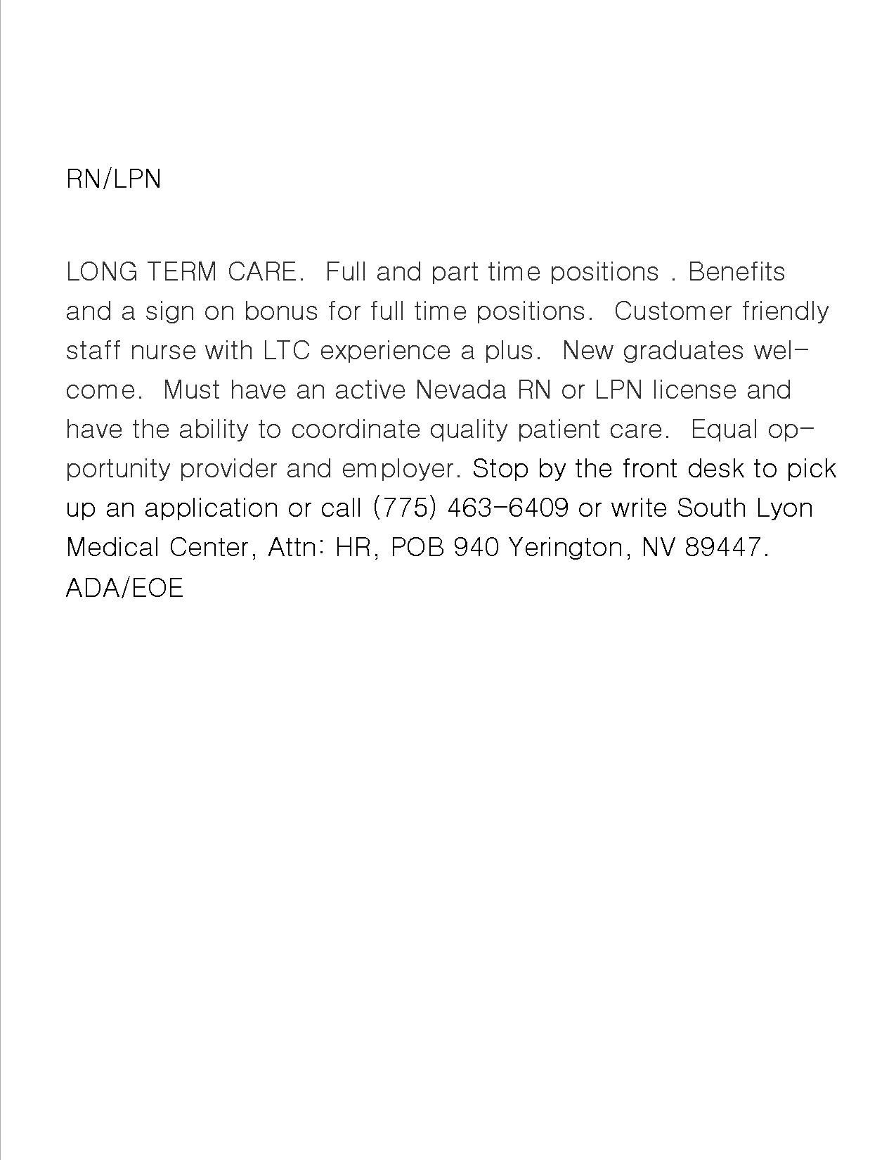Rn Lpn Long Term Care South Lyon Medical Center