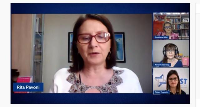 Rita Pavoni, coordenadora do Grupo de Trabalho do Momento do Empreendedor de agosto de 2021 realizado pela ACIST-SL