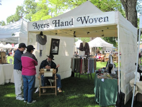 Ayers Hand Woven Booth at Day in the Shade, Templeton, 2011