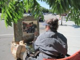 Julia Munger Seelos participates in the plein air quick-draw competition