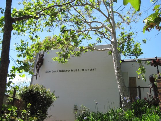 San Luis Obispo Museum of Art, entrance near creek trail.