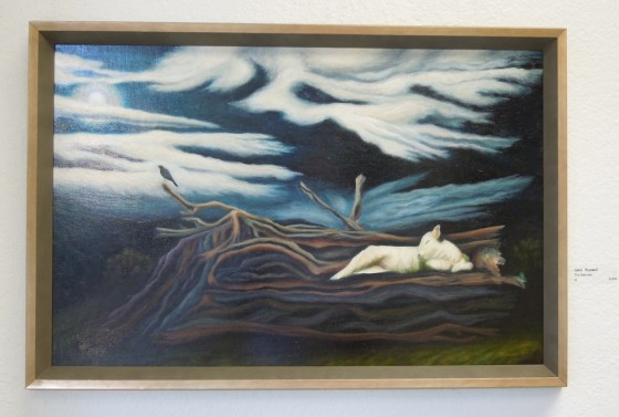 """Jane Russell's """"The Beloved"""" -- Oil on Board"""