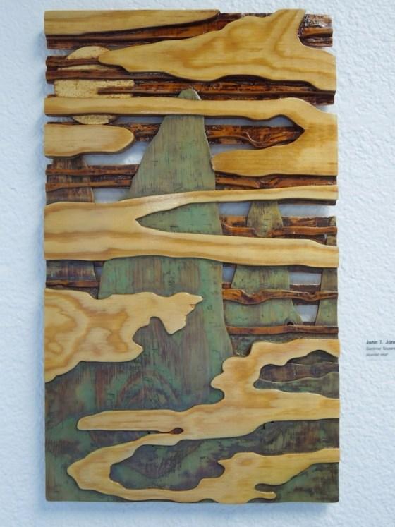 "John T. Jones: ""Sentinel Sisters"" -- A Plywood Relief"