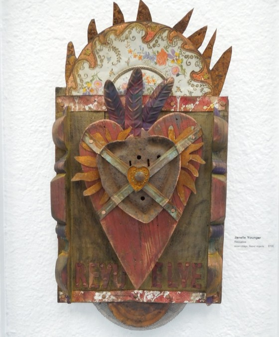 """Janelle Younger's """"Revuelve, """" Assemblage, found objects"""