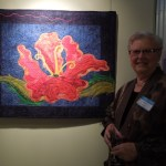 """Hibiscus Reborn"" Art Quilt by Rene Jennings"