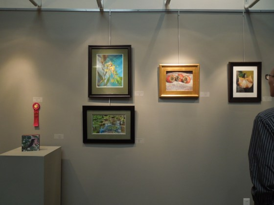 "Selections from the ""Gardens"" exhibit at the Paso Robles Art Association Gallery."