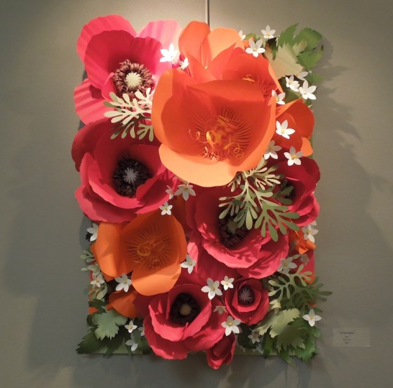 """Spring Poppies"" by Monika Roe, in paper."