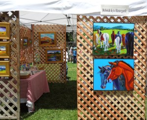 Deborah Kyle Hintergardt Booth at Day in the Shade, Templeton, 2012