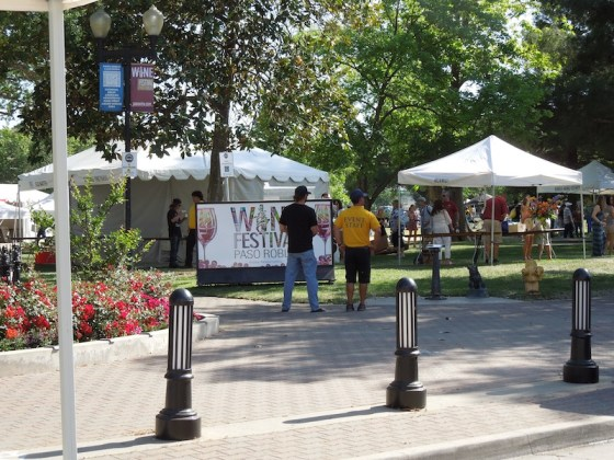 The End of the Paso Robles Wine Festival in the Park, 2012