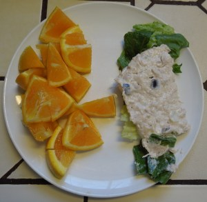 Tuna Mousse Served with an Orange
