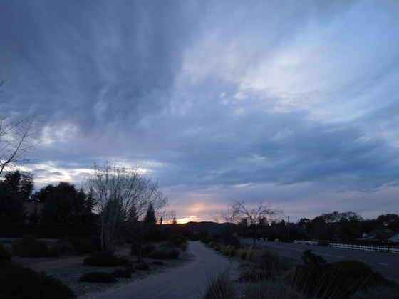 Cloudy Sunset on Vineyard Drive, March 9