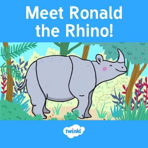 Ronald the Rhino eBook front cover.