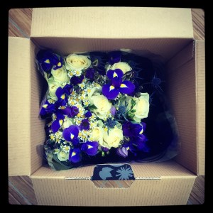 Unboxing the Prestige Flowers bouquet.