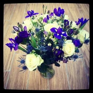 Prestige Flowers bouquet in a vase.