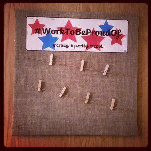 Bulletin board for small space homeschooling.