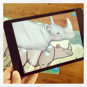 Ronald the Rhino viewed through the Twinkl AR app!