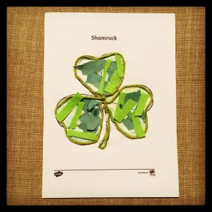 St Patrick's Day shamrock collage.