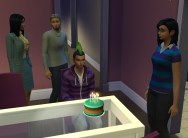 Looks like no one was happy to celebrate Christopher's birthday.