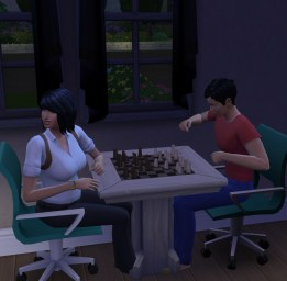 Ethan cheating in order to beat his sister, the chess master.