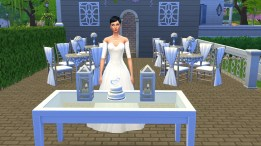 Gemma was a little peeved when Zachary took too long to come and cut the cake with her.