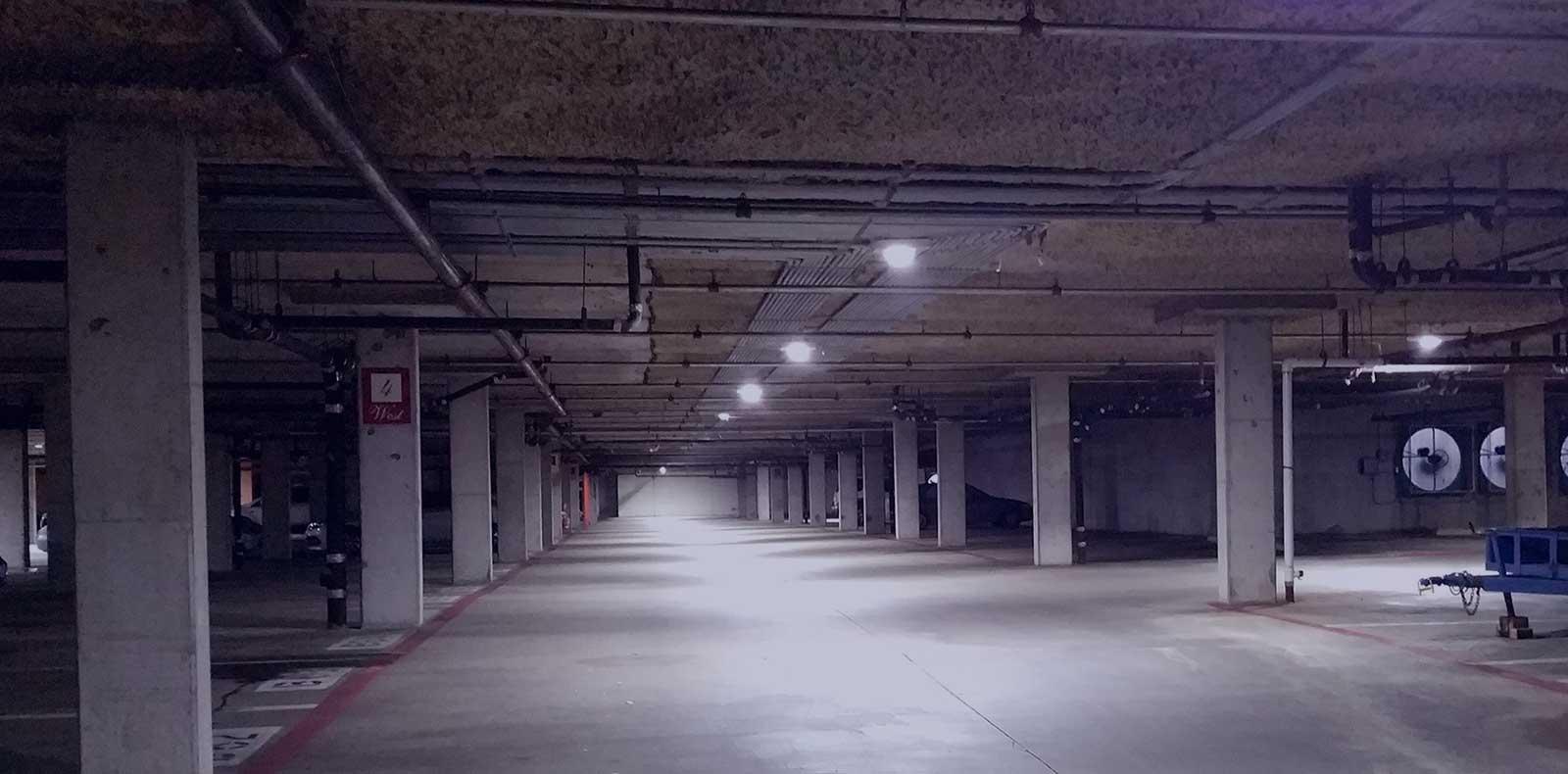 parking garage solutions led lighting