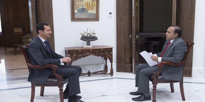Sýrsky prezident tvrdí pre TV WION, že teroristi ustupujú