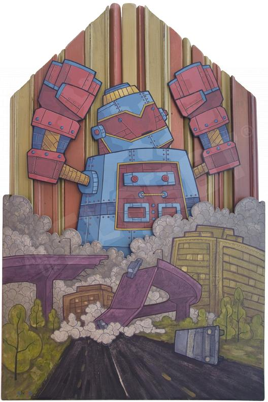 Gabe Lanza Traffic Jam Robot Art