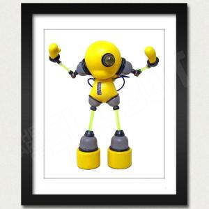 Slomunny v3 Robot Photo Print Framed View