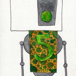 mike slobot robot 5 art print unframed illustration