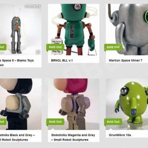 mike slobot robot art past works commissions robot pop art