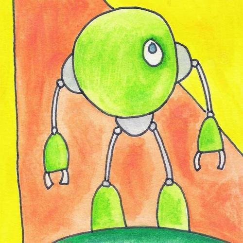 Mike Slobot Little Green Robot Printdetail