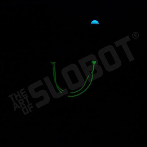 mike slobot robot u2 zooropa toy art gallery glow in the dark