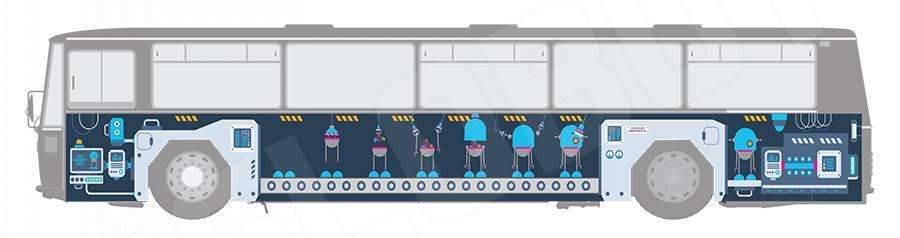 Mike Slobot Robot Bus AOTM 2017 Raleigh NC Art on the Move