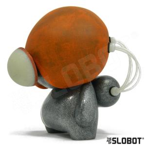 Mike Slobot robot pop art space age orange silver