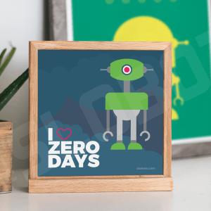Mike Slobot - I Heart Zero Days Natural Desk Frame
