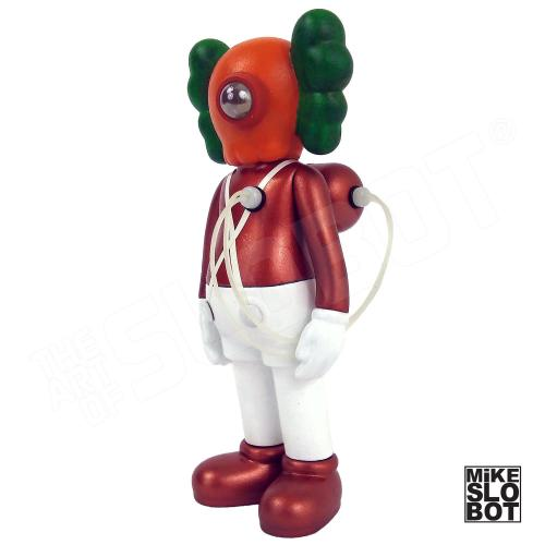 Mike Slobot Custom KAWS Companion Slonkabot 1000 Wonka oompa loompa left quarter view