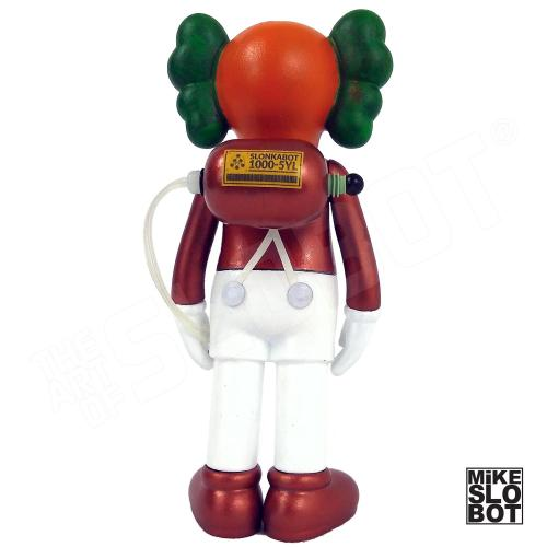 Mike Slobot Custom KAWS Companion Slonkabot 1000 Wonka oompa loompa back golden ticket