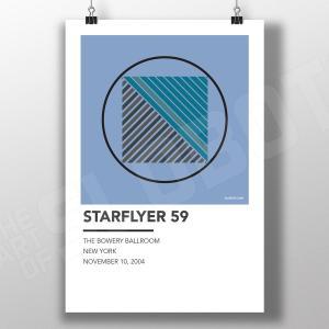 Mike Slobot - Starflyer 59 Alternative Gig Poster 2004 Live NYC Bowery Ballroom