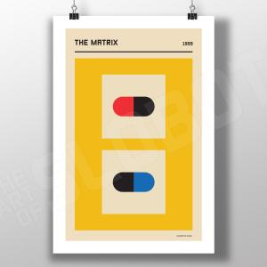 Mike Slobot - The Matrix Re-Imagined as a Bauhaus Styled Poster