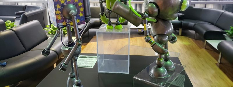 Mike Slobot Robots installed at PTI Internaional Airport in Greensboro NC