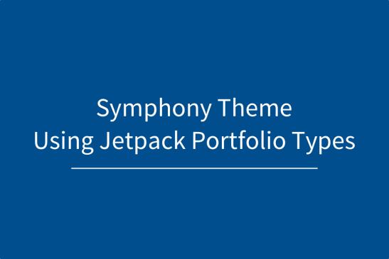 Using Jetpack Portfolio and Symphony Theme