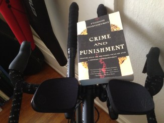 Reading while on indoor bike trainer