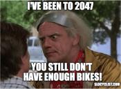 doc brown funny meme bikes slo cyclist