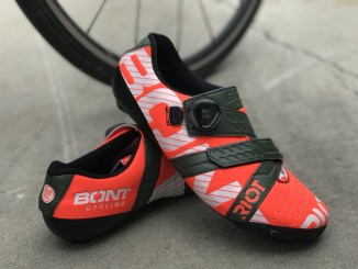 bont riot cycling shoe crimson