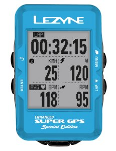 Lezyne Super GPS blue gifts for cyclists