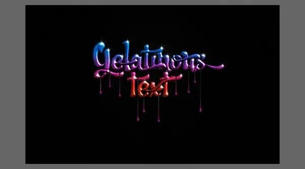 Create a gel text effect photoshop - Gelatinous Text