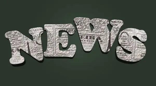 Design a 3D Newspaper Cropped Text Effect